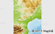 Physical Map of Languedoc-Roussillon