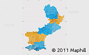 Political Map of Languedoc-Roussillon, cropped outside