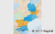 Political Map of Languedoc-Roussillon, lighten