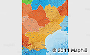 Political Shades Map of Languedoc-Roussillon
