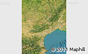 Satellite Map of Languedoc-Roussillon