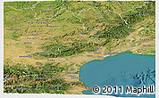 Satellite Panoramic Map of Languedoc-Roussillon