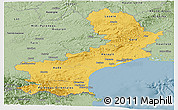 Savanna Style Panoramic Map of Languedoc-Roussillon