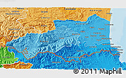 Political Shades 3D Map of Pyrénées-Orientales