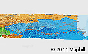 Political Shades Panoramic Map of Pyrénées-Orientales