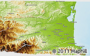 Physical 3D Map of Perpignan