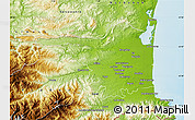 Physical Map of Perpignan