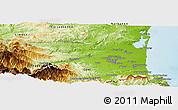 Physical Panoramic Map of Perpignan
