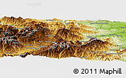 Physical Panoramic Map of Prades