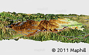 Physical Panoramic Map of Prades, satellite outside