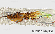 Physical Panoramic Map of Prades, shaded relief outside