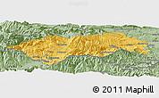 Savanna Style Panoramic Map of Prades