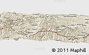 Shaded Relief Panoramic Map of Prades