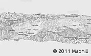 Silver Style Panoramic Map of Prades