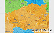 Political Shades 3D Map of Correze