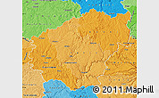 Political Shades Map of Correze