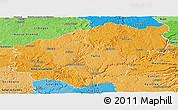 Political Shades Panoramic Map of Correze