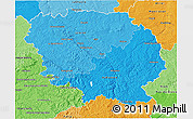 Political Shades 3D Map of Creuse