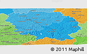 Political Shades Panoramic Map of Creuse