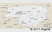 Classic Style Panoramic Map of Limousin