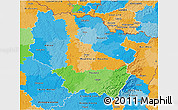 Political 3D Map of Lorraine
