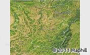 Satellite 3D Map of Lorraine