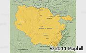 Savanna Style 3D Map of Lorraine