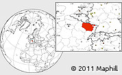 Blank Location Map of Lorraine