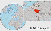 Gray Location Map of Lorraine