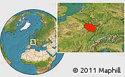 Satellite Location Map of Lorraine