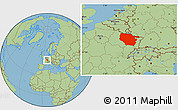 Savanna Style Location Map of Lorraine