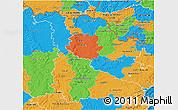 Political 3D Map of Meurthe-et-Moselle