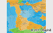 Political Shades 3D Map of Meurthe-et-Moselle
