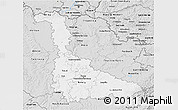 Silver Style 3D Map of Meurthe-et-Moselle