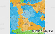 Political Shades Map of Meurthe-et-Moselle