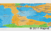 Political Shades Panoramic Map of Meurthe-et-Moselle