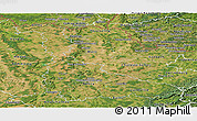 Satellite Panoramic Map of Meurthe-et-Moselle