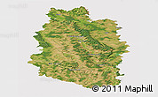 Satellite Panoramic Map of Meuse, cropped outside