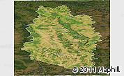 Satellite Panoramic Map of Meuse, darken