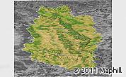 Satellite Panoramic Map of Meuse, desaturated