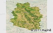 Satellite Panoramic Map of Meuse, lighten