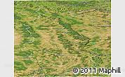 Satellite Panoramic Map of Meuse