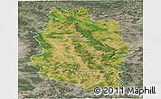 Satellite Panoramic Map of Meuse, semi-desaturated