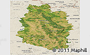 Satellite Panoramic Map of Meuse, shaded relief outside
