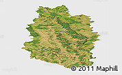 Satellite Panoramic Map of Meuse, single color outside