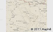 Shaded Relief Panoramic Map of Meuse