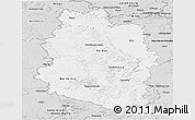 Silver Style Panoramic Map of Meuse