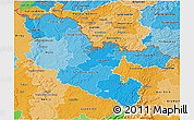 Political Shades 3D Map of Moselle