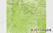 Physical Map of Moselle