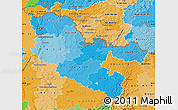 Political Shades Map of Moselle